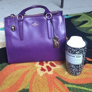 EUC Purple authentic Coach purse
